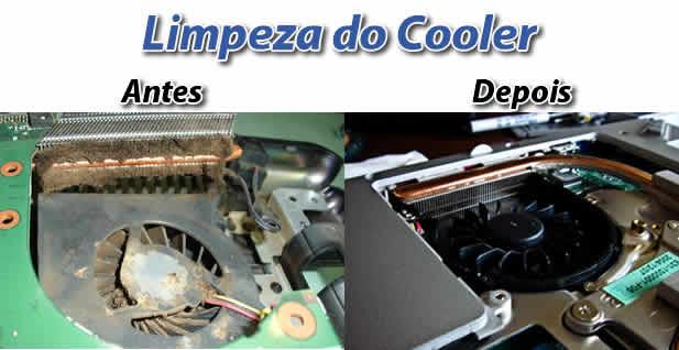 Limpeza e lubrificação de cooler